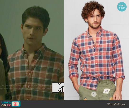 Ralph Lauren Denim & Supply Remington Plaid Shirt worn by Tyler Posey on Teen Wolf
