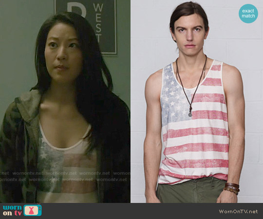 Ralph Lauren Denim & Supply Stars and Stripes Tank worn by Arden Cho on Teen Wolf