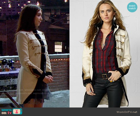 Ralph Lauren Denim & Supply Wool Military Coat worn by Rowan Blanchard on Girl Meets World