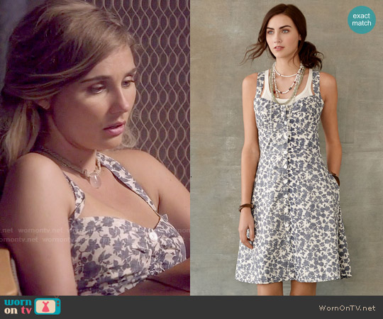 RRL Floral Shirlyn Sundress worn by Clare Bowen on Nashville