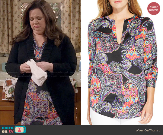 Ralph Lauren Paisley Print Tunic worn by Melissa McCarthy on Mike & Molly