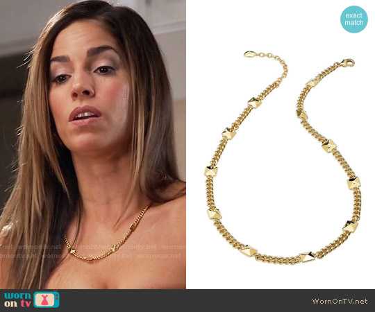 Lauren Ralph Lauren Pyramid Stud Necklace worn by Marisol Duarte on Devious Maids