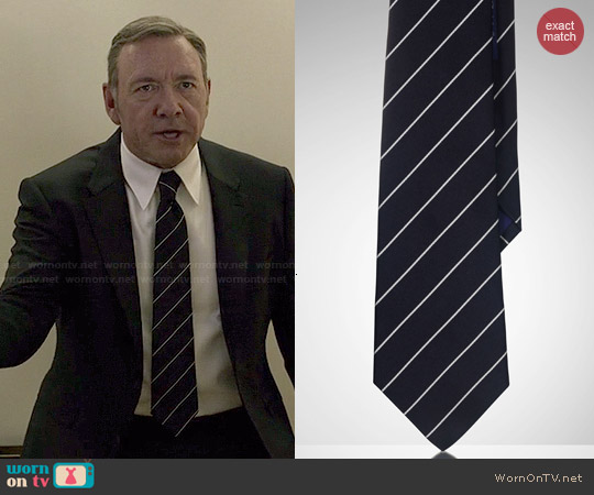Ralph Lauren Striped Silk Satin Tie worn by Kevin Spacey on House of Cards