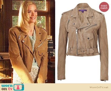 Ralph Lauren Collection Suede Jacket worn by Jaime King on Hart of Dixie