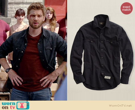Ralph Lauren Twill Heritage Western Shirt worn by Mike Vogel on Under the Dome