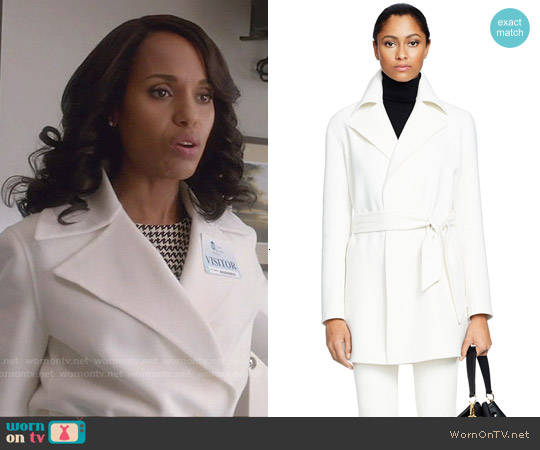 Ralph Lauren Black Label Wool-Angora Harper Coat worn by Kerry Washington on Scandal