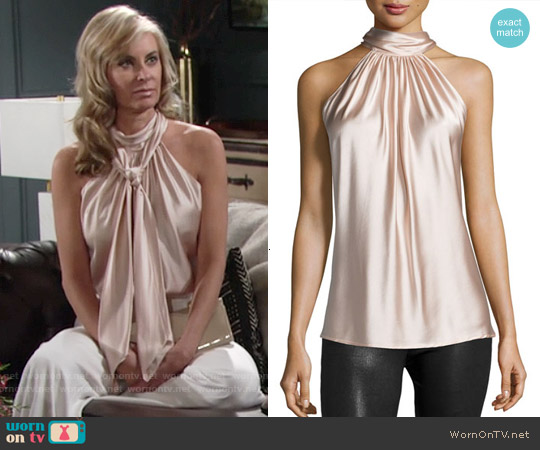 Ramy Brook Paige Top in Blush worn by Eileen Davidson on The Young & the Restless