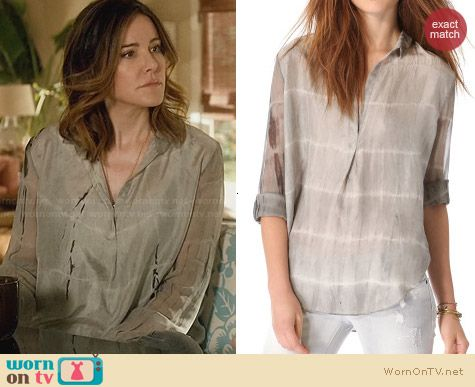 Raquel Allegra Ash Tetra Blouse worn by Christa Miller on Cougar Town