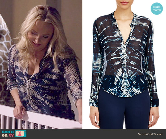 Raquel Allegra Chiffon Henley Blouse worn by Hayden Panettiere on Nashville