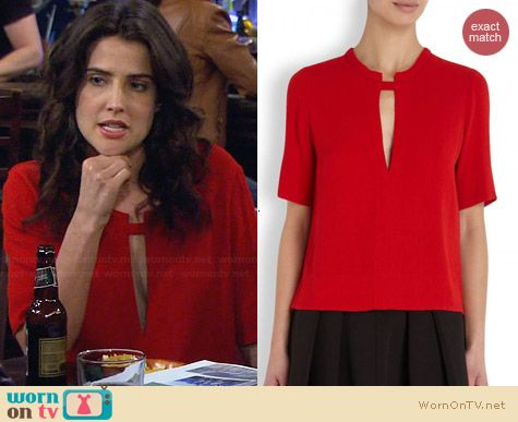 Raquel Allegra Crepe Cutout Top worn by Cobie Sulders on HIMYM