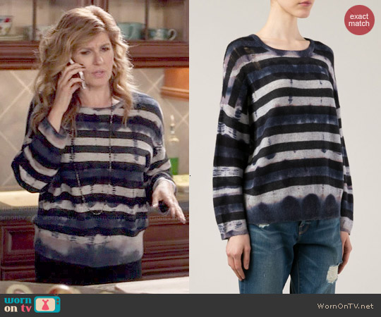 Raquel Allegra Distressed Striped Sweater worn by Connie Britton on Nashville