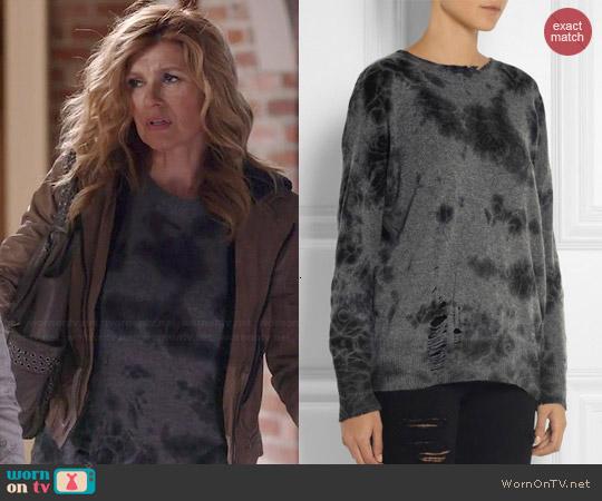 Raquel Allegra Distressed Sweater worn by Connie Britton on Nashville