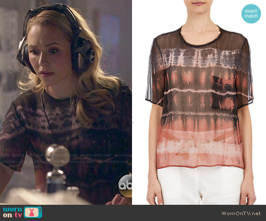 Raquel Allegra Tie Dye Chiffon T-shirt worn by Hayden Panettiere on Nashville