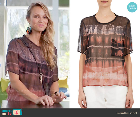 Raquel Allegra Tie Dye Chiffon T-shirt worn by Beau Garrett on GG2D