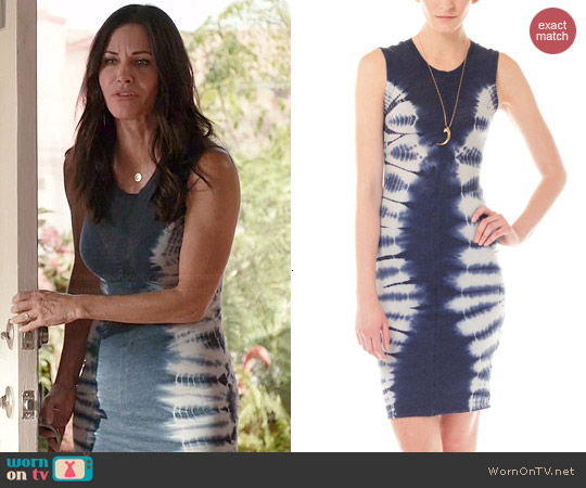 Raquel Allegra Tie Dye Dress worn by Courtney Cox on Cougar Town