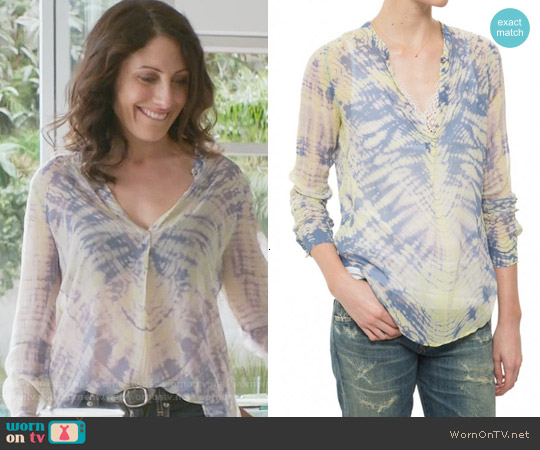 Raquel Allegra Henley Top worn by Lisa Edelstein on GG2D