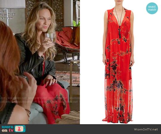 Raquel Allegra Tie Dye Maxi Dress worn by Beau Garrett on GG2D