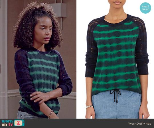 Raquel Allegra Tie Dyed Sweater worn by Yara Shahidi on Blackish