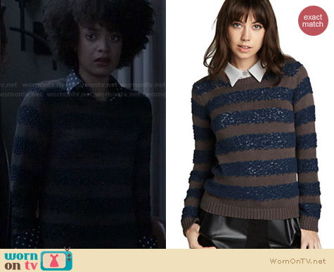 Ravenswood Fashion: Bcbgeneration Striped Sweater worn by Britne Oldford
