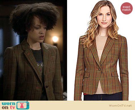 Ravenswood Fashion: Cremieux Plaid Blazer worn by Britne Oldford