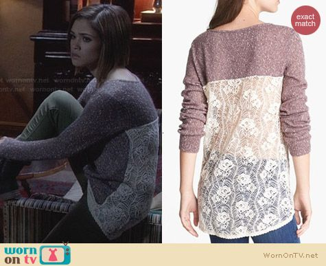 Ravenswood Fashion: Hinge Crocheted Trimmed Sweater worn by Nicole Anderson