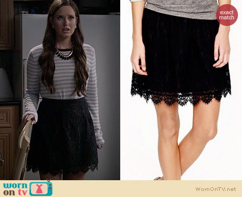 Ravenswood Fashion: J. Crew Lace Skirt worn by Merrit Patterson