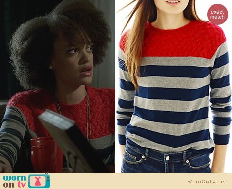 Ravenswood Fashion: Joe Fresh Striped Sweater worn by Britne Oldford