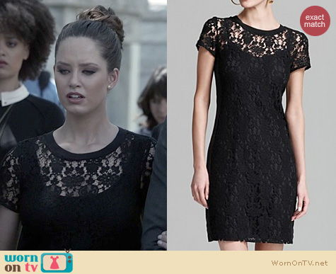 Fashion of Ravenswood: Rebecca Taylor Short Sleeve Lace Dress worn by Merritt Patterson