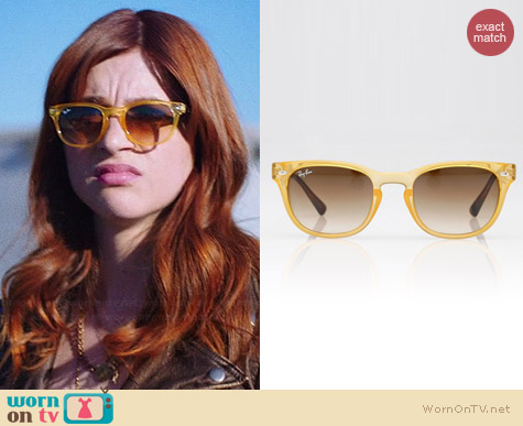 Ray-Ban Opal Yellow Wayfarers worn by Aya Cash on You're the Worst