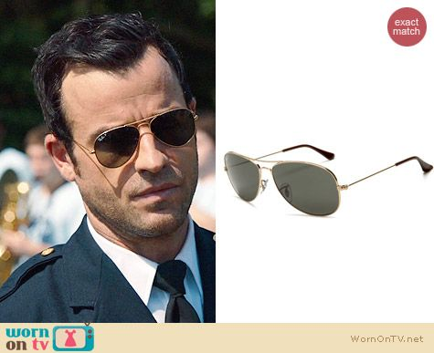 Ray Ban Original Polarized Aviator Sunglasses worn by Justin Theroux on The Leftovers
