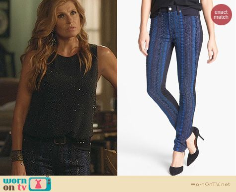 Rayna Jaymes Fashion: 7 For All Mankind Malhia Pieced Jeans worn on Nashville