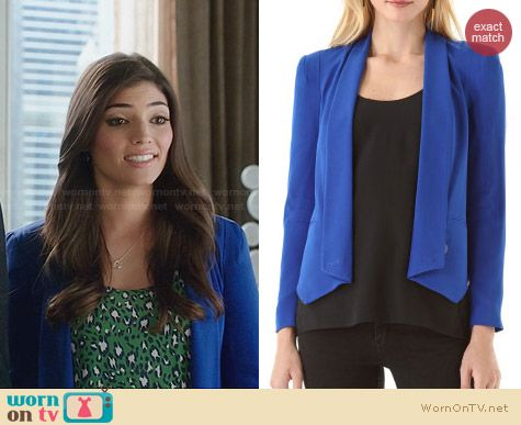 Rebecca Minkoff Becky Jacket in Royal Blue worn by Amanda Setton on The Crazy Ones