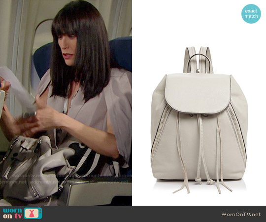 Rebecca Minkoff Bryn Backpack worn by Quinn Fuller on The Bold & the Beautiful