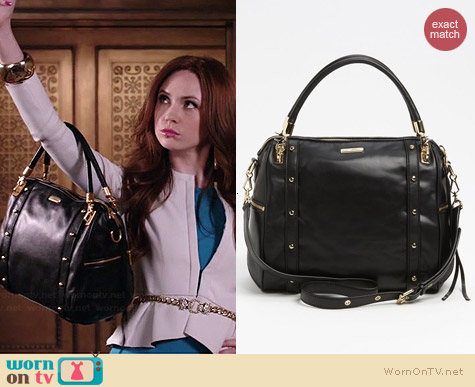Rebecca Minkoff Cupid Satchel worn by Karen Gillan on Selfie