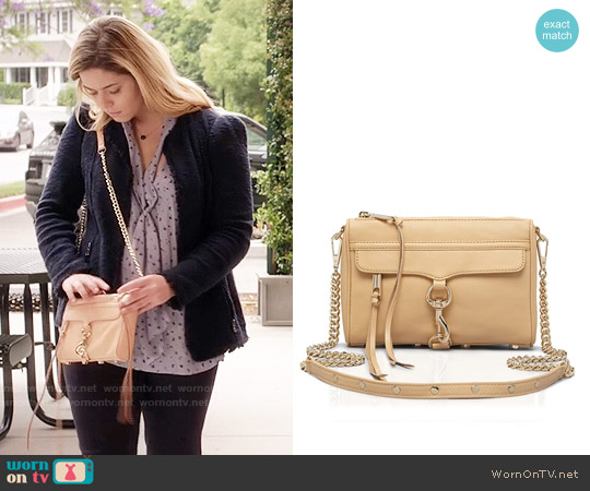 Rebecca Minkoff Mini Mac Crossbody Bag worn by Sasha Pieterse on PLL