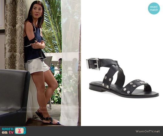 Rebecca Minkoff Stam Sandal worn by Jacqueline MacInnes Wood on The Bold & the Beautiful