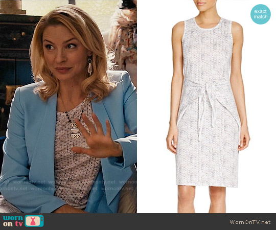 Rebecca Taylor Knotted Waist Printed Linen Dress worn by Tabrett Bethell on Mistresses