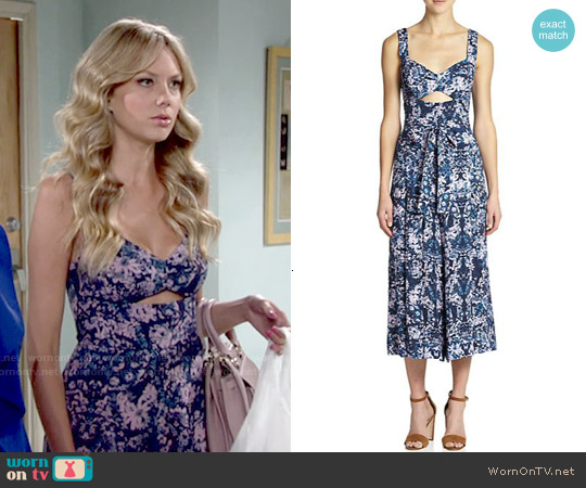 Rebecca Taylor Silk Kiku Print Jumpsuit worn by Melissa Ordway on The Young & the Restless