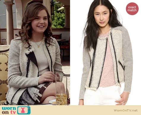 Rebecca Taylor Combo Tweed Jacket worn by Bailee Madison on The Fosters