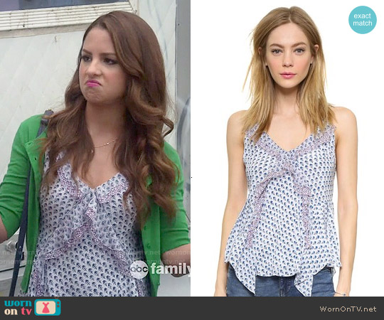 Rebecca Taylor Ditsy Tulip Camisole worn by Aimee Carrero on Young & Hungry