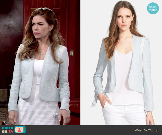 Rebecca Taylor Double Face Linen & Cotton Jacket worn by Amelia Heinle on The Young & the Restless