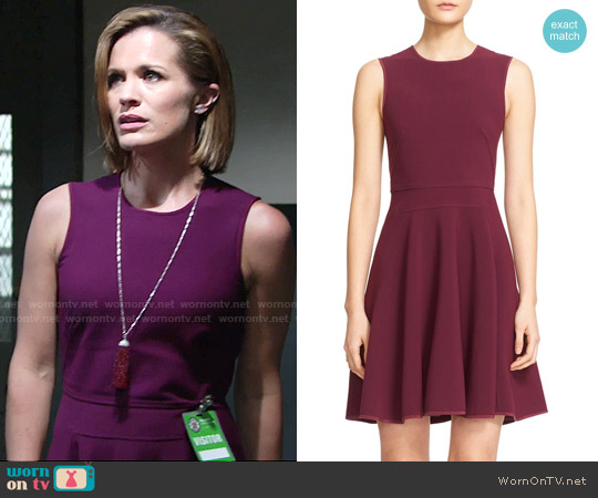 Rebecca Taylor Seam Detail Sleeveless Fit & Flare Dress worn by Melissa Claire Egan on The Young & the Restless
