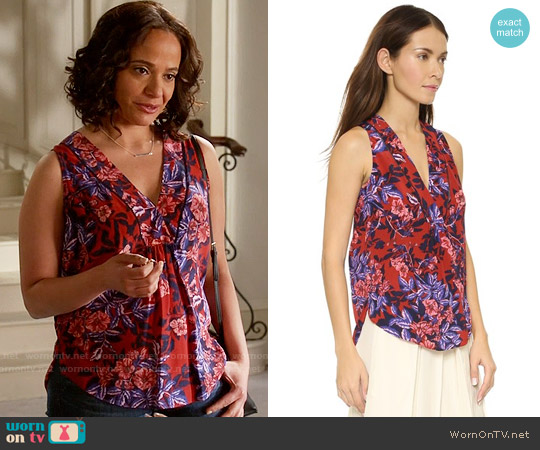 Rebecca Taylor Flame of the Forest Top worn by Judy Reyes on Devious Maids