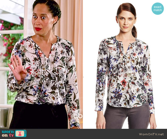 Rebecca Taylor Gardens Pintucked Blouse worn by Tracee Ellis Ross on Blackish