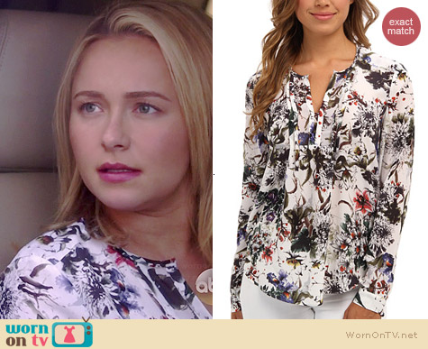 Rebecca Taylor Gardens Pintuck Blouse worn by Hayden Panettiere on Nashville