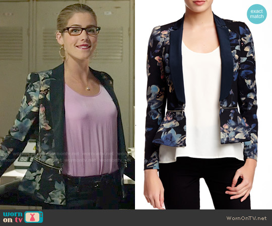 Rebecca Taylor Hawaii Zip Jacket worn by Emily Bett Rickards on Arrow