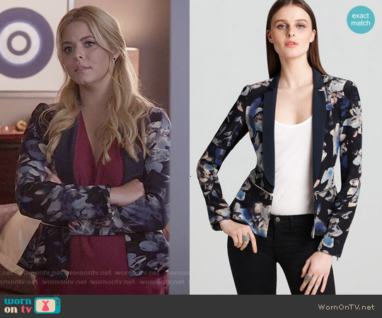 Rebecca Taylor Hawaii Zip Jacket worn by Sasha Pieterse on PLL