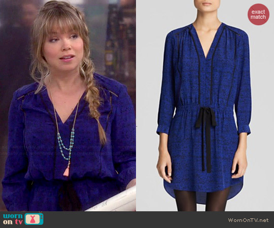 Rebecca Taylor Ink Dot Print Silk Shirt Dress worn by Amanda Fuller on Last Man Standing