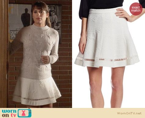 Rebecca Taylor Jacquard Flip Skirt worn by Lea Michele on Glee