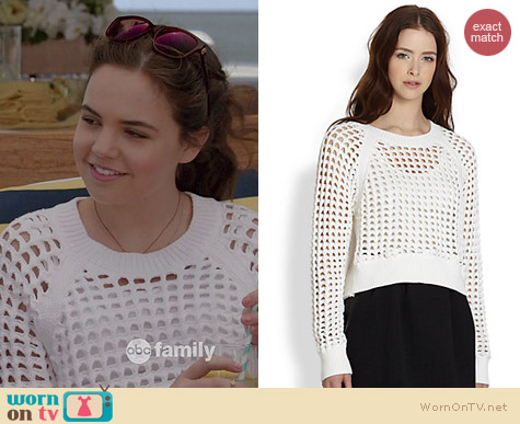 Rebecca Taylor Knit Openwork Sweater worn by Bailee Madison on The Fosters